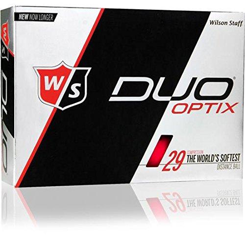 Wilson Staff Duo Optix Matte Red Golf Balls by Wilson Golf