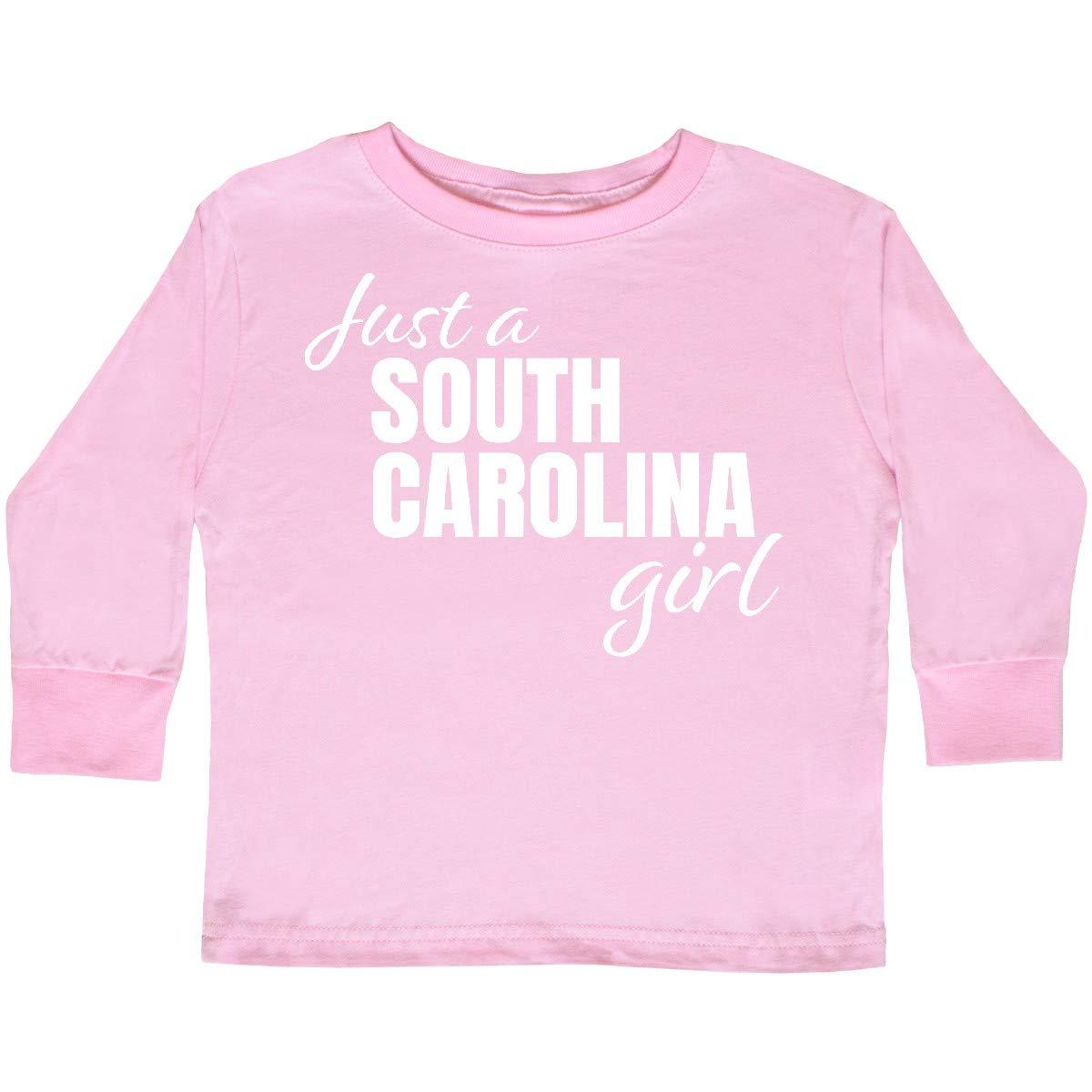 inktastic Just a South Carolina Girl Born and Raised Toddler Long Sleeve T-Shirt