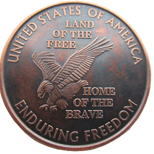 Land of the Free ( Presstonミント) 1 oz .999 Pure Copper Challenge Coin withブラックPatina B01M0AUBUE