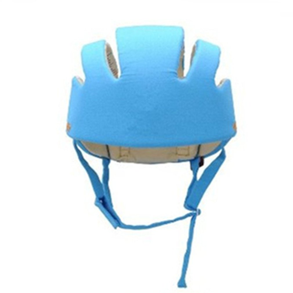 Qiorange Infant Baby Toddler Safety Helmet Kids Head Protection Hat for Walking Crawling baby Children Infant Adjustable Safety Helmet Head guard Protective Harnesses Cap (Blue)