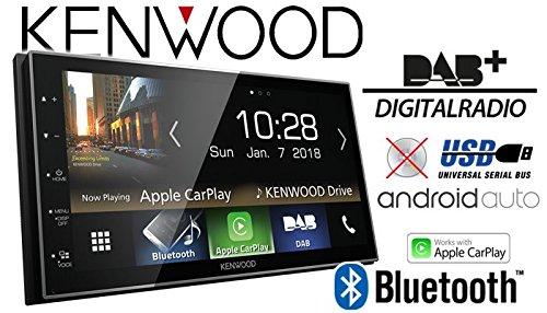 JUST SOUND best choice for caraudio DAB+ Digitalradio | Bluetooth AndroidAuto Apple CarPlay Einbauset f/ür Peugeot 207 307 Autoradio Radio Kenwood DMX7018DABS Zubeh/ör