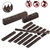 Juguhoovi Defender Bird Spikes, Repellent Spikes to Prevent Birds, Cat and Small Animals from Entering Your Home Security for Fence, Railing, Walls and Roof