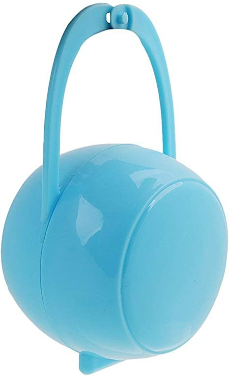 Ogquaton Recipiente de pezón para bebé Caja de chupete portátil Caja de almacenamiento de chupete Contenedor de chupete para uso de Ourdoor 1pcs azul: Amazon.es: Bebé