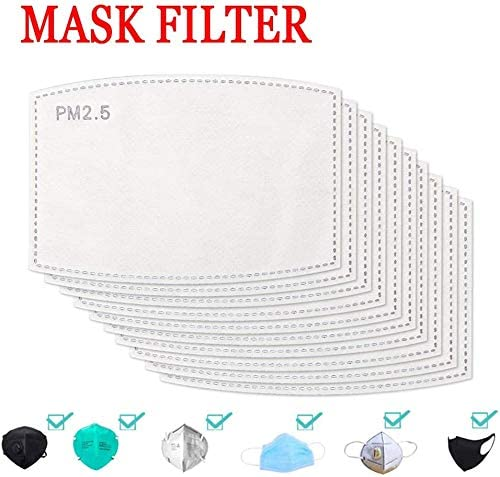 Activated Carbon Filter,PM2.5 Filter 5 Layers Replaceable Anti Haze Filter Paper 100PCS