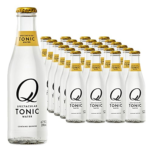 Quinine Water (Q Drinks, Q Tonic Water, Spectacular Tonic Water, Premium Mixer, 6.7 Ounce Bottle (Pack of 24))