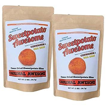 Sweet Potato Awesome - Organic Freeze Dried Sweet Potato Slices - Original - Paleo, AIP