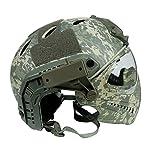 DECHO-C Casque Rapide d'Airsoft avec Le Masque de Masque pour l'armée Militaire WarGame Moto Faisant du vélo la Chasse 6