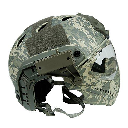 DECHO-C Casque Rapide d'Airsoft avec Le Masque de Masque pour l'armée Militaire WarGame Moto Faisant du vélo la Chasse 2