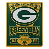 The Northwest Company 1NFL/03102/0017/AMZ NFL Green Bay Packers Marque Printed Fleece Throw, 50' x 60', Green Bay Packers, 50 x 60