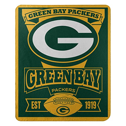 The Northwest Company NFL Green Bay Packers Marque Printed Fleece Throw, 50-inch by 60-inch, -