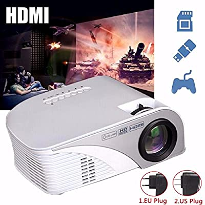 Portable LED Projector,ELEGIANT 1200 LM Mini Multimedia Home Theater Projector,Max 120'' Screen Optical Keystone AV/VGA/SD/USB/HDMI Interface,Ideal for Video Game,Movie Night,Family Videos and Picture