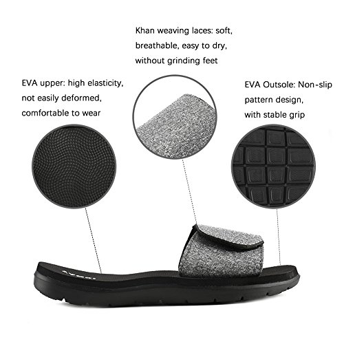 Sandals Slippers Thong YANQI Flops Men Flops Flip Fit amp;Women Anti Indoor Fashion Beach Casual 1 Gray Outdoor women Breathable Slip LOVE fzvw8qn8