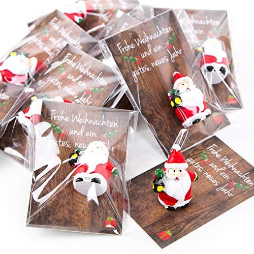 Weihnachtsgeschenke Kollegen.Amazon De 5 Kleine Mini Geschenke Santa Nikolaus Weihnachtsmann Rot