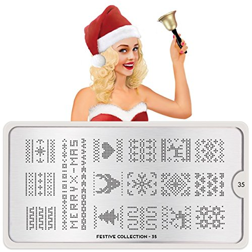 MoYou-London Nail Art Image Stamping Plate Festive Collec...