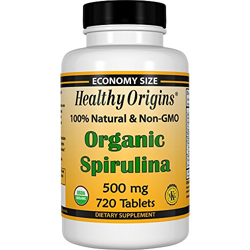 Healthy Origins Organic and Kosher Spirulina, 500 mg, 720 - Economy Usps International