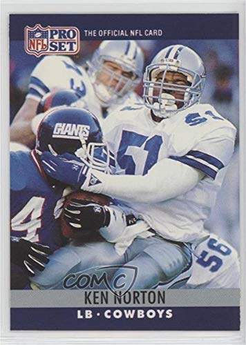 Ken Norton; Brian Sochia (Football Card) 1990 Pro Set - Printing Proof Errors #KNBS