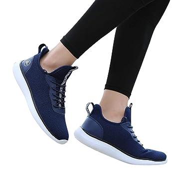 Zapatos senderismo de mujer, ❤️Sonnena Zapatos planas de mujer Calzado Moda Zapatillas de cuña