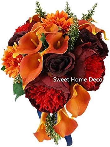 Amazon Com Sweet Home Deco Silk Peony Rose Calla Lily Daisy Mixed