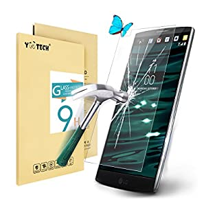 lg v10 screen protectoryootech lg v10 tempered glass screen protector guard against scratches and drops ultra hd clear with maximum touchscreen amazoncom tempered glass