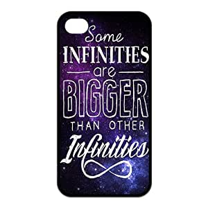 iPhone 4/4S Case, Quotes from The Fault in Our Stars Hard TPU Rubber Snap-on Case for iPhone 4 / 4S
