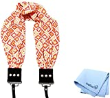 Capturing Couture Geovanie Coral Scarf Camera Strap and a Bonus Ivation Spot Cleaning Cloth