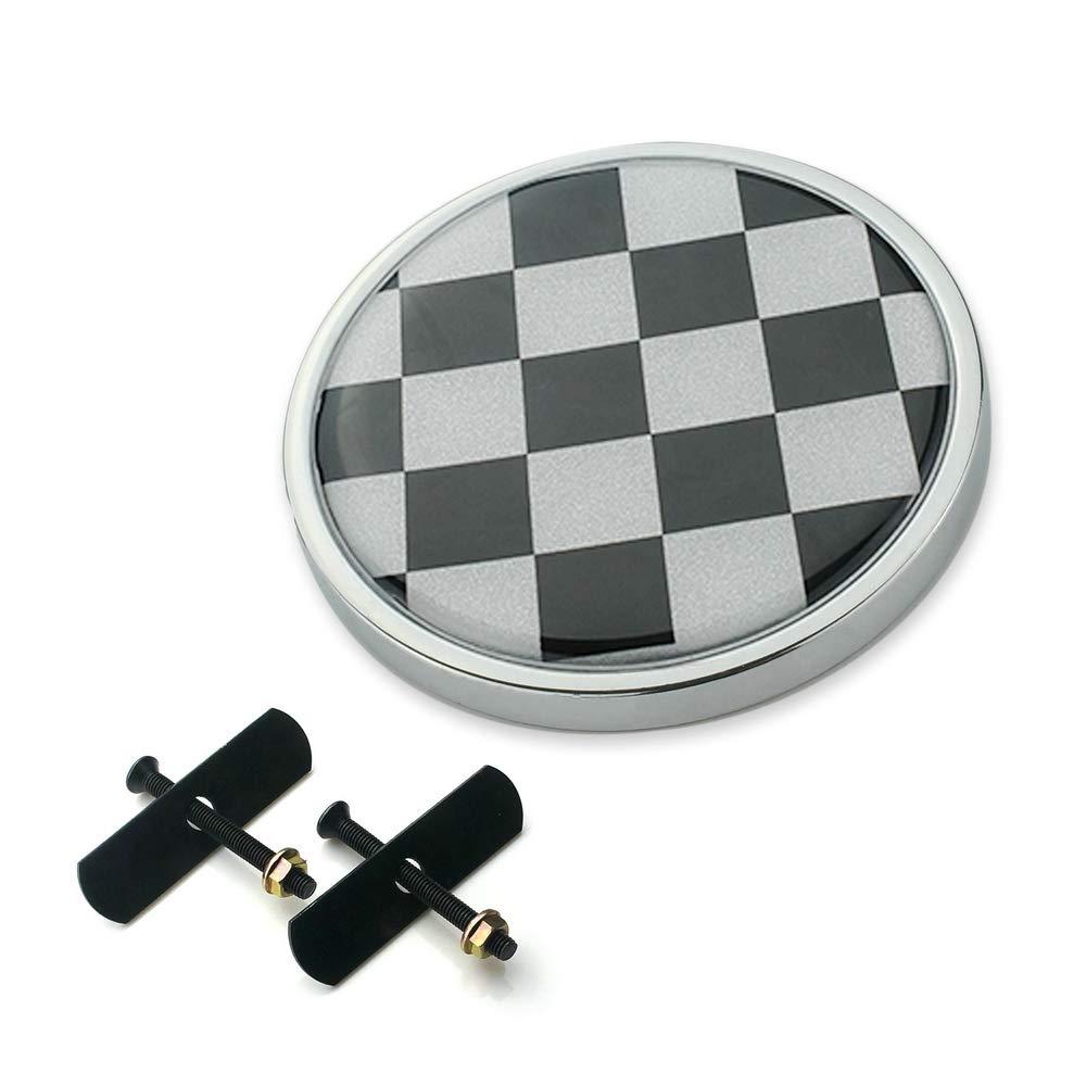 Gray Rice Heinmo Auto K/ühlergrill Emblem Abzeichen Metall Aufkleber Aufkleber f/ür Mini Cooper Innenraum F//R Serie Universal