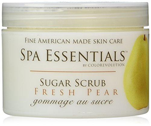 Spa Essentials Natural Sugar Scrub, Fresh Pear, 8.0 Ounce