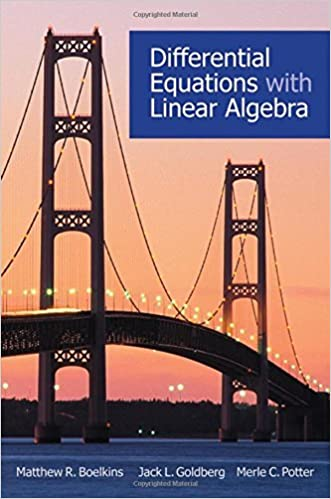 Differential equations with linear algebra, matthew r. Boelkins.