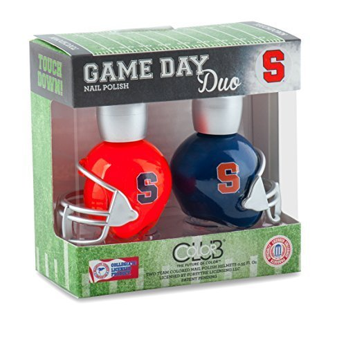 SYRACUSE ORANGE GAME DAY DUO NAIL POLISH SET-SYRACUSE UNIVERSITY NAIL POLISH-INCLUDES 2 BOTTLES AS SHOWN by COLOR - Mall Shopping Syracuse