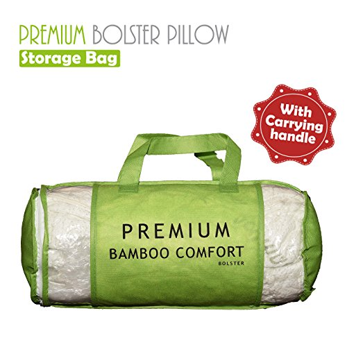 Premium Bamboo Bolster Pillow For Bed - Shredded Memory Foam Pillow Cervical Support For Legs, Round Neck Pillow For Neck Pain, Therapeutic, Orthopedic - Removable Zipper Cover Hypoallergenic Pillow by Premium Bamboo Pillows (Image #5)