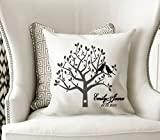 Custom Engagement Pillowcase - Family Tree Pillow Cover - Accent Name Pillowcase - Family Gift - Couples Gift - Gift for Newlyweds - Rustic Wedding Gift