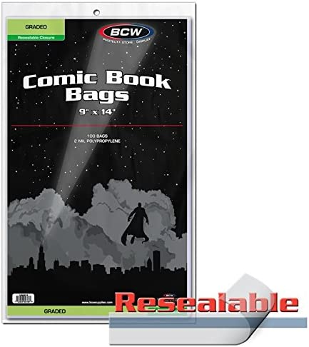 BCW RESEALABLE Bag for Graded Comics - 9 X 14 / BCW RESEALABLE Bag for Graded Comics - 9 X 14