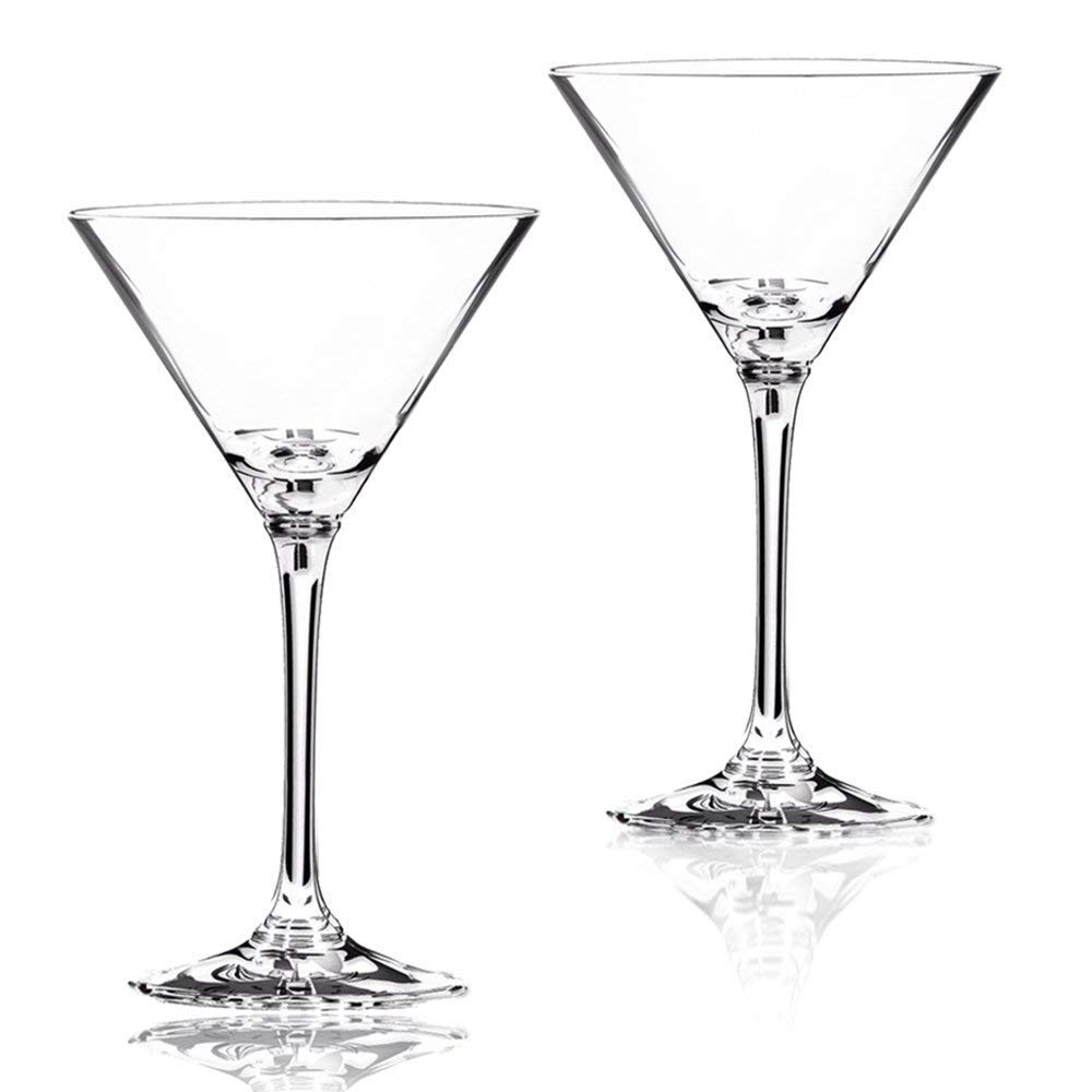 Lhx Bar Goblet Crystal Martini Glass, Cocktail Glass 9.5 oz 2 Piece Set