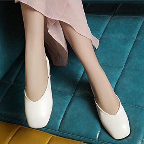 Simple Easemax Toe Slippers Sandals Clipping Square Heel Closure Womens Flat White No 1q6rqx5g