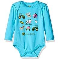 John Deere Girls' Farm Friends Bodyshirt, Turquoise, 3/6 Months