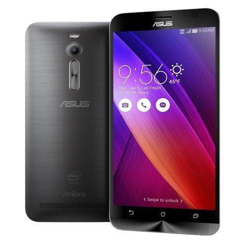 bolsa del cinturón / funda para Asus ZenFone 2 4GB RAM, negro + Auriculares | caja del teléfono cubierta protectora bolso - K-S-Trade (TM)
