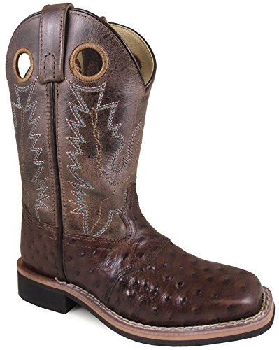 Price comparison product image Smoky Mountain Children's Cheyenne Pull On Square Toe Distressed Tobacco/Brown Crackle Boots 13M