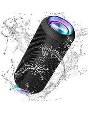 Ortizan Portable Bluetooth Speaker, IPX7 Waterproof Wireless Speaker with 24W Loud Stereo Sound, Outdoor Speakers with Bluetooth 5.0, 30H Playtime,66ft Bluetooth Range,Dual for Home