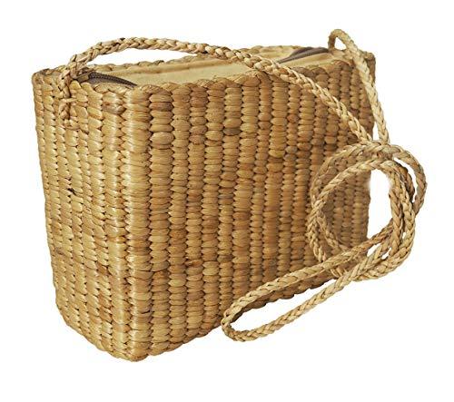 D LANNA-Water Hyacinth Rattan straw Round Circle Bag- Handmade Shoulder Cross body Tote-Women-New