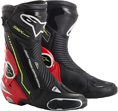 - Alpinestars SMX Plus Boots (36) (BLACK/RED FLUO/WHITE/YELLOW FLUO)