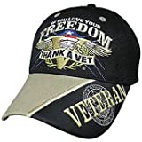 If You Love Your Freedom Thank a Vet Baseball Cap Hat Military Veteran