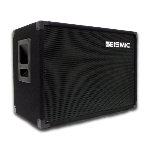 (Seismic Audio - 210 Bass Guitar Speaker Cabinet PA DJ 400 Watts 2x10 PRO)