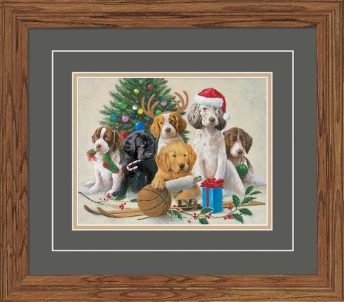 Holidaze - Puppies GNA Deluxe Framed Print by Jim Killen