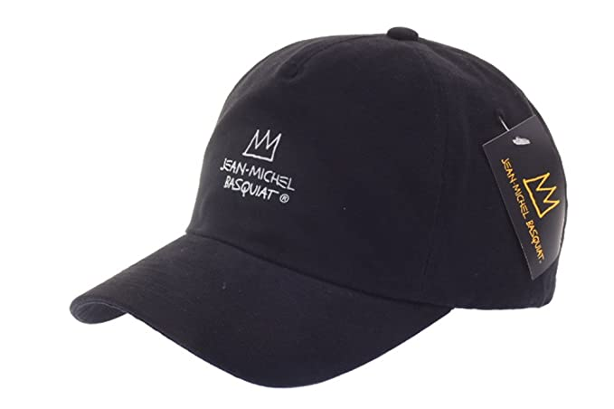 Jean-Michel Basquiat Cotton 5 Panel Rubber Crown Baseball Cap Pre Curved Hat  (1 5c8cef62da4