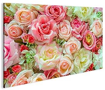 tolle Rosen rose-farben Bild auf Leinwand BEM-1P