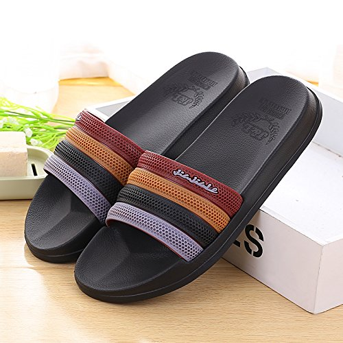 Verano zapatillas de baño,40 yuca Rojo 44 black purple
