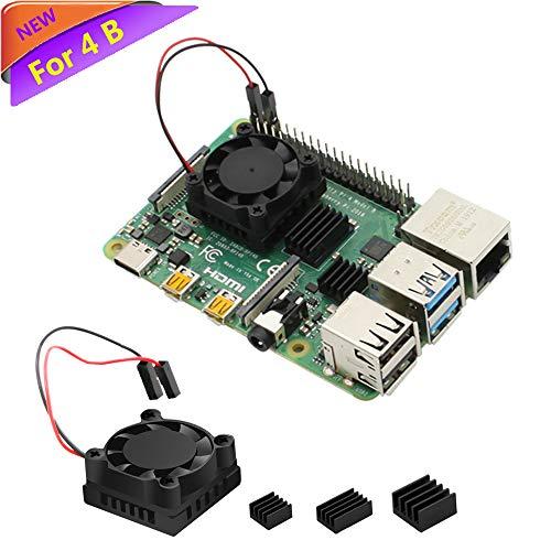 Raspberry Pi Fan, iUniker Raspberry Pi Heatsink Fan Single Fan Cooling Fan and RAM Copper Heatsink for Raspberry Pi 3 b+, Raspberry Pi 3 b, Raspberry Pi 2 and Other Single Board Computer