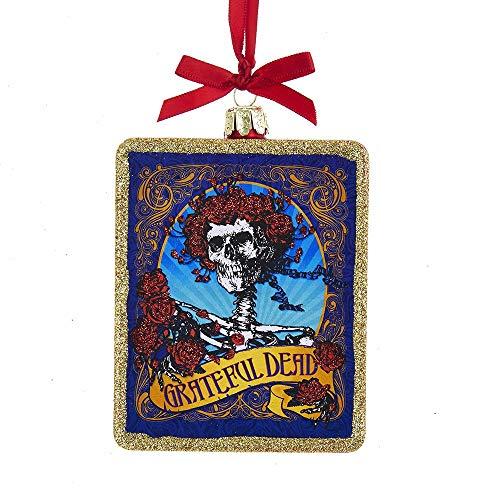 Kurt Adler Glass Grateful Dead Ornament, 4.25-Inch (The Walking Dead Tree Christmas)