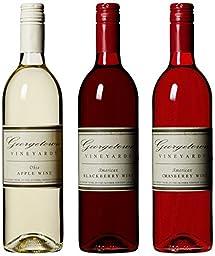 Georgetown Vineyards Red, White & Blackberry Wine Mixed Pack, 3 x 750 ml Wine