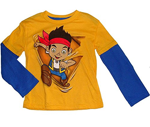 E-land Toddler Boys Long Sleeved - Disney's Jake and the Neverland Pirates Little Boys Long Sleeved Shirt (2T)